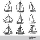 Sailboat vector Stock Image