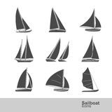 Sailboat vector Royalty Free Stock Images