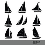 Sailboat vector Royalty Free Stock Photos