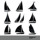 Sailboat vector Royalty Free Stock Photos