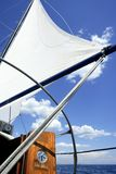 Sailboat vintage sailing blue sea ocean Royalty Free Stock Photos