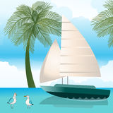 Sailboat in water Royalty Free Stock Photo