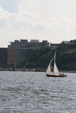 Sailboat. A sailboat on the water in New York Royalty Free Stock Image