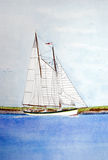 Sailboat Watercolor Stock Images