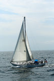 Sailboat on the waters near Boston Harbor Stock Photography