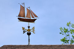 Sailboat Weather Vane Stock Photos