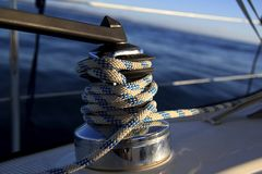 Sailboat winch Stock Image