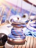Sailboat winch Stock Image