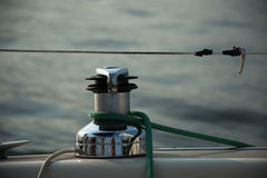 Sailboat winch Royalty Free Stock Image