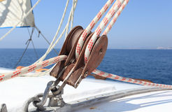 Sailboat winch Royalty Free Stock Photography