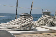 Sailboat Winches  Royalty Free Stock Images