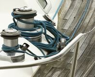 Free Sailboat Winches And Rope Yacht Royalty Free Stock Photos - 196256908