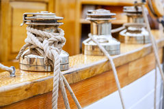 Sailboat winches Stock Photography