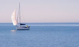 Sailboat in the wind Royalty Free Stock Photography