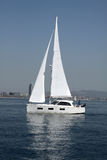 Sailboat - Yacht in the Mediterranean Royalty Free Stock Image