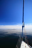 Sailboat yacht sailing in blue sea. Tourism Royalty Free Stock Image