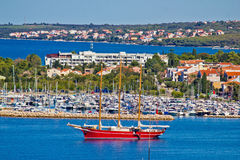 Sailboat in Zadar area waterfront Royalty Free Stock Photo