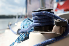 Sailboater's equipment on yacht Stock Photos