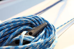 Sailboater's equipment on yacht Stock Images