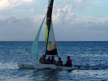 Sailboating au Cuba Images libres de droits