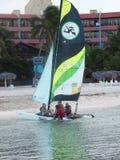 Sailboating In Cuba Stock Image
