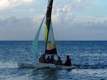 Sailboating In Cuba Royalty Free Stock Images