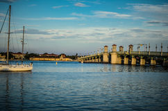 Sailboating w Nawadnia Floryda Obrazy Royalty Free