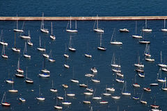 Sailboats � aerial view Royalty Free Stock Photography