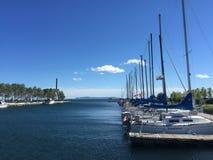 Sailboats σε μια μαρίνα Στοκ Φωτογραφίες