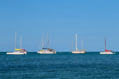 Sailboats στη θάλασσα Στοκ Εικόνα