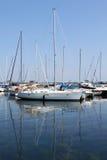 Sailboats στη μαρίνα στοκ εικόνα με δικαίωμα ελεύθερης χρήσης