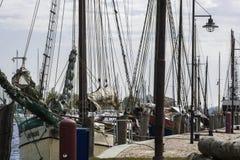 Sailboats στο λιμάνι Στοκ Φωτογραφία