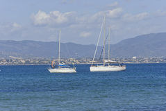 Sardinia.Sailboats Stock Photos