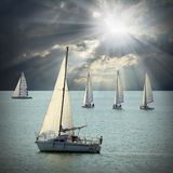 The Sailboats. Stock Photography