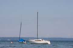 Sailboats. On lake starnberg on a sunny day Royalty Free Stock Photos