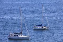 Sailboats anchored Royalty Free Stock Photography