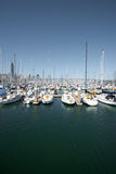 Sailboats Anchored In San Francisco Harbor V Royalty Free Stock Photography