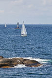 Sailboats in the archipelago royalty free stock images