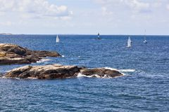 Sailboats in the archipelago Royalty Free Stock Photos
