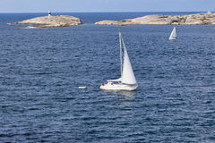 Sailboats in the archipelago Royalty Free Stock Photography