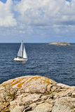 Sailboats in the archipelago Stock Images