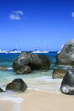 Sailboats at the Baths, Virgin Gorda. Stock Photo