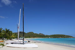 Sailboats on the beach on vacation Stock Photography