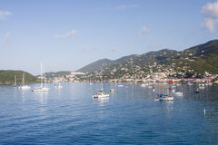 Sailboats in Blue Bay on St Thomas Stock Photo
