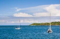 Sailboats in Bocas, Panama stock image