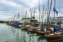Sailboats on BodenSee lake Stock Image