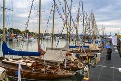 Sailboats on BodenSee lake Stock Photos