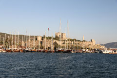 Sailboats in Bodrum Marina. Mugla City, Turkey Stock Image