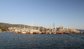 Sailboats in Bodrum Marina. Mugla City, Turkey Royalty Free Stock Image