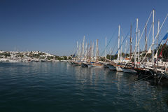 Sailboats in Bodrum Marina. Mugla City, Turkey Stock Images